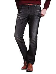 Lavado Jeans larga recta de los hombres