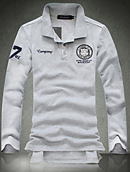 Herren Extra Large Größe Langarm-Fashion Casual Polo-T-Shirt