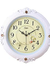 "15 ""H style floral Polyresin Mute Horloge murale"