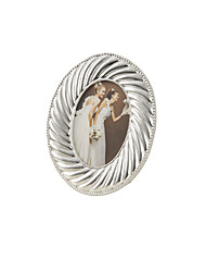"9""Shell Style Silver Color Polyresin Picture Frame"