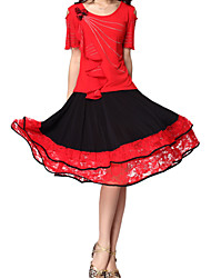 Latin Dance Skirts Women's Training Crystal Cotton