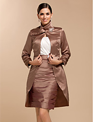 Wedding / Party/Evening Satin Coats/Jackets Long Sleeve Wedding  Wraps