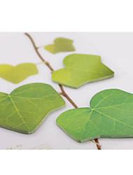 3pcs Tree Leaf Shaped Sticky Notes (Random Color)