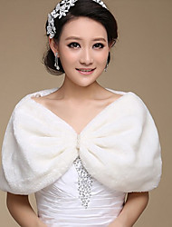 Fur Wraps / Wedding  Wraps Shrugs Faux Fur Ivory Party/Evening / Casual