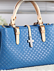 Lady Fashion Embossing PU Leather Tote/Crossbody Bag