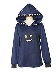 Inspiré par Free! Rin Matsuoka Anime Costumes de cosplay Hoodies Cosplay Mosaïque / Imprimé Bleu Encre Manche Longues Manteau