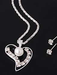 Women's Alloy Jewelry Set Imitation Pearl/Rhinestone