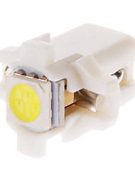 B8.5D 1x5050SMD 10-20LM 6000K Cool White Light Bulb LED para carro (12V, 10pcs)