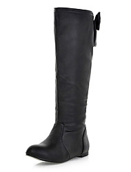 Women's Flat Heel Knee High Boots with Bowknot (More Colors)(More Colors)