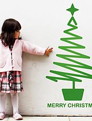 Vacanze di Natale albero con la stella Wall Stickers