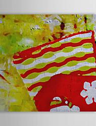 Vacances cadeau de Noël Peinture à l'huile prêt à accrocher Père Claus'Sock prêt à accrocher