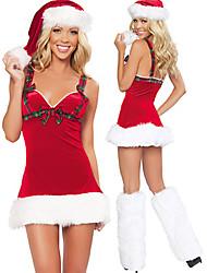 Christmas Costume Escócia Garota Velvet da Mulher