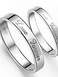 Ring Daily Jewelry Alloy Women Men Couples Couple Rings 1pc 2pcs,5 6 7 8 9 10 8½ 9½ 10½ Silver