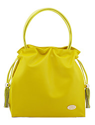 Freyja Frauen Yellow Imitate Lammfell Colorful Candy Bag
