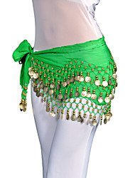 Fashion Dancewear Chiffon Belly Dance Belt With 128 Coins For Ladies(More Colors)