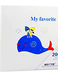 "Blue Whale Kid cuero del estilo de 4 ""* 6"" Album de fotos (200 Pocket)"