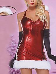 Glänzende Mädchen Wine Red Christmas Costume