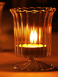 """3.5""""Wine Glass Style Glass Candle Votive"""