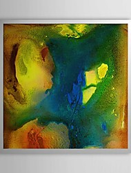 Abstract Splashed Ink Framed Oil Painting