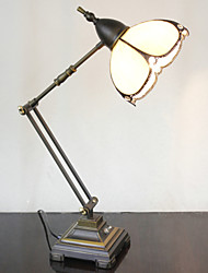 Swing Arm Table Lamp, 1 Light, Tiffany Iron Glass Painting