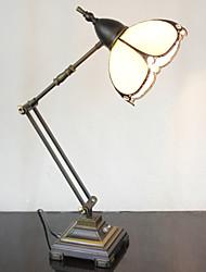 Swing Arm Table Lamp, 1 Light, Tiffany Iron Glass Painting