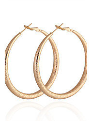KU NIU Women's Gold Plating Diameter 50Mm Earring Er0317