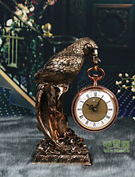 "16""Retro Type Tricycle Eagle Style Polyresin Tabletop Clock"