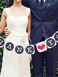 "Wedding Décor ""Thank You"" Vintage  Banner - Set of 9 Pieces"