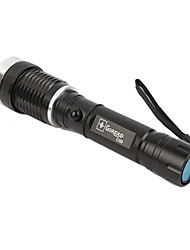 Goread C55 3-Mode Cree XP-G R2 LED Zoom Flashlight with Magnet at the Tail (240LM, 1x18650, Black)