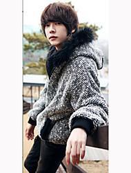 Men's Long Sleeve Jacket , Cotton Casual