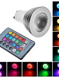 Faretti GU10 3 W Controllo a distanza 100 LM 6000-7000 K Colori primari AC 100-240 V