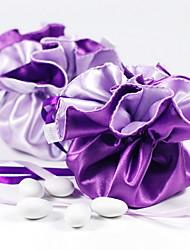 Reversibles de uva y lila Stain bolsos del favor - Juego de 12