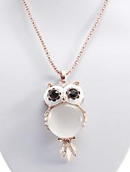 Owl Cat Eye Stone Necklace