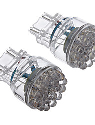2pcs T25 3157 24-LED de 80 100LM White Light Bulb para carro (12V) LED