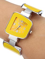 Mulheres Relógio de Moda Quartz Lega Banda Bracelete Amarelo marca-