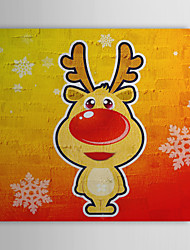 Vacances cadeau de Noël Peinture à l'huile prêt à accrocher Bambi prêt à accrocher