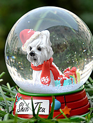 Lovely Chrysanthemum Decorative Crystal Ball Ornament Christmas Gift for Pet Lovers