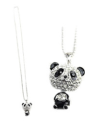 Necklace Pendant Necklaces Jewelry Daily / Casual Fashion Alloy Black and White 1pc Gift