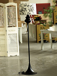 European-Style Classic Floor Lamp With Up-Market Fabric Shade