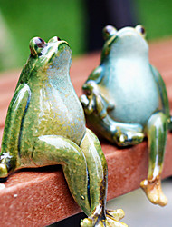 """5.5 """"Thinking Frog Couple céramique Collectibles (2 Pcs Set)"""