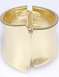 Rich Long Women's Vintage Golden Wide Bracelets