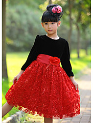 Girl's Dress,Jacquard Polyester Winter