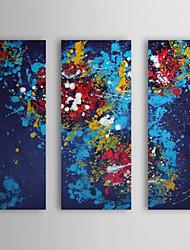 Handgemaltes Ölgemälde Abstrakt Galaxy mit gestreckten Rahmen 3-er Set