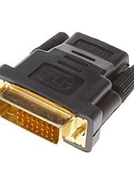 DVI 24 +1 Male to HDMI V1.3 Γυναίκα Adapter Converter HDTV