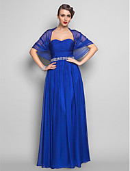 TS Couture Formal Evening / Military Ball Dress - Royal Blue Plus Sizes / Petite Sheath/Column Sweetheart Floor-length Chiffon