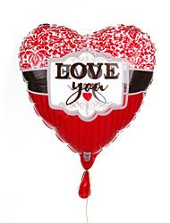 Transparent Heart Metallic Balloon - Love You