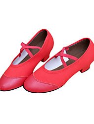 Women's Leather And Canvas Dance Shoes For Modern/Ballroom(More Colors)