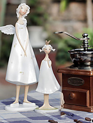 "9""Teachers Day Gift Angel Decorations Polyresin Collectibles(2 PCS Set)"