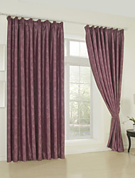 One Panel Modern Embossed Geometric Blackout Curtain