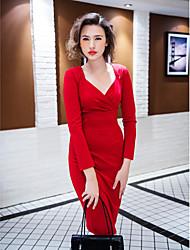 TS VINTAGE Low Cut Sexy Bodycon Dress